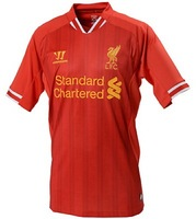 free shipping thai quality 2013-2014 Liverpool home jersey red shirts men's soccer shirts