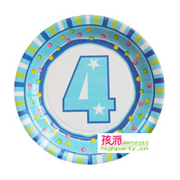 Highparty child birthday supplies child birthday party supplies plate 4 boy 6