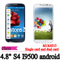 NEW 4.8 inch I9500 phone S4phone android 4.2 MTK6515  capacitive screen dual cameras wifi (single and double card selection)