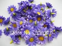 """25 purple sun flower Artificial Silk Flower Heads Craft Wedding 1.5"""" SF129"""