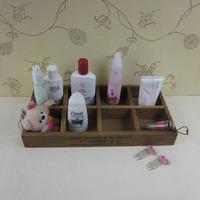 Cosmetics wooden storage box desktop storage  multicellular pallet cosmetics pallet