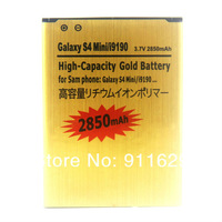1pcs/lot free shipping battery 3.7V 2850mAh High Capacity Gold Battery For Samsung Galaxy S4 Mini i9190
