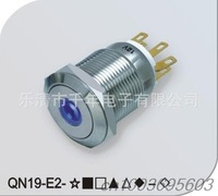 QN19-E2 19mm single-point light welding foot metal waterproof CAR  button switch 12v LED