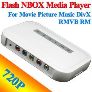 720P Flash Player NBOX Media Player For Movie Picture Music DivX RMVB RM #6781 Free Shipping