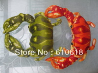 Free Shipping Wholesale 24Pcs/Lot 2 Colors Crab Stuffed Plush Glass Sucker Toys Children Promotions Gifts Car Home Decor Toys