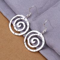 Newest 925 Sterling Silver Plated Women Earrings Free Shipping Nickel Free Jewelry SE353