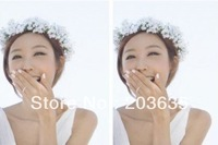 bride baby breath flower garland,bride hair accessories+hand band,1set/lot,free shipping