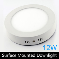 Modern design 12W LED ceiling or wall surface mounted downlight / round panel light kitchen light 172mm 4pc/lot free shipping