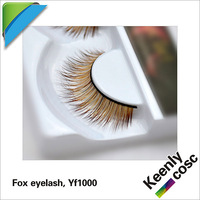 2013 new design free shipping hand-made natural Fox fur false eyelashes can custom style for customer