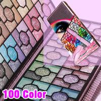 Wholesale 5set/lot 100 Color Banquet Rose Makeup Eyeshadow Palette Set with Purple Foil Bag 100Color Eye Shadow