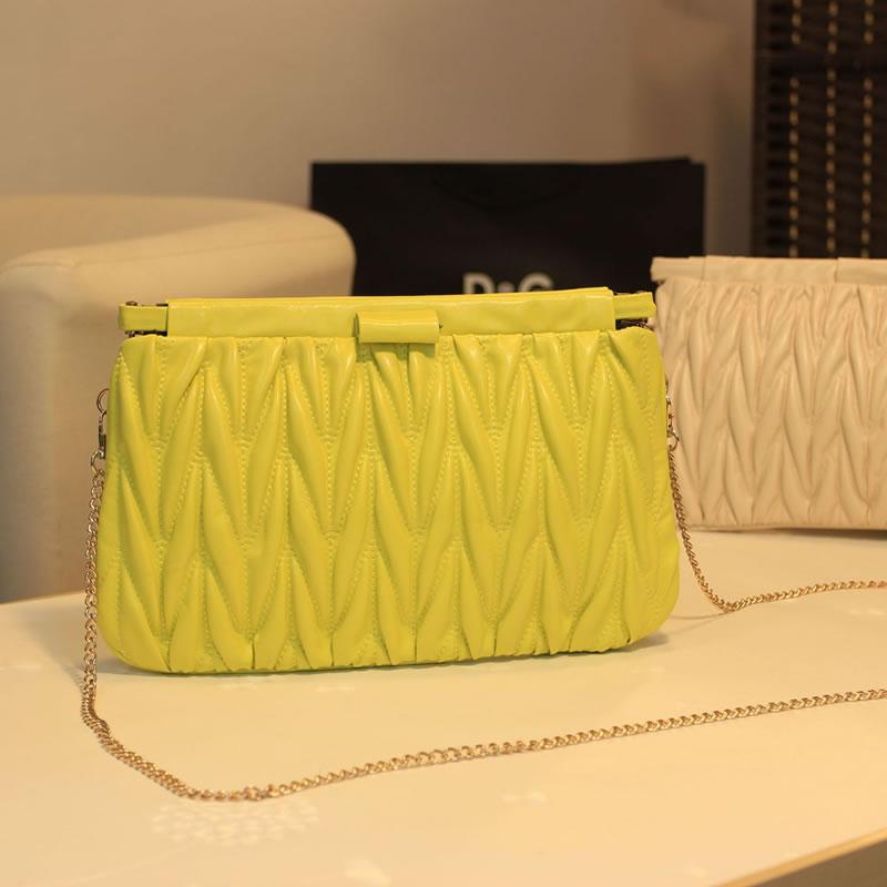 2013 women's handbag quality pleated bubble bag clip shoulder bag fashion sweet candy chain women's handbag(China (Mainland))