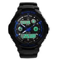 free shipping -- Multifunction Digital Climbing  Watch Sports Watch For Men 30M Waterproof (5 colors)