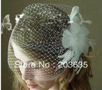 16pcs/lot Bride white feather pearl flower hairpin,hair accessory,free shipping