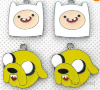 Small wholesale 50pcs metal Adventure Time   DIY   mobile phone charms pendants party favor Gift free shipping