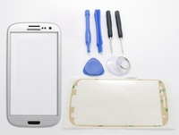 White Front Glass Cover Replacement For Samsung Galaxy S3 i9300 Adhesive & Tools Free Shipping