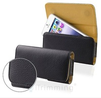 Deluxe Black Leather Pouch Clip Holster For Apple iPhone 5 Belt Case Cover