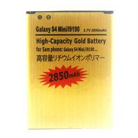 MOQ 1pcs For Galaxy S4 Mini i9190 battery 3.7V 2850mAh High Capacity Gold Battery Free Shipping