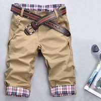 Slim knee-length pants male casual capris pants men's clothing shorts