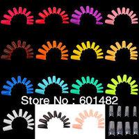 Wholesale fake nail tips 260bags/carton,500pcs/bag colorful french nail tips  +free shipping by DHL ,EMS,UPS,TNT .