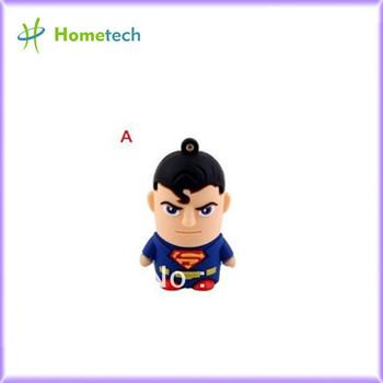 H2 test New super man model USB 2.0 Enough Memory usb Custom promotional USB Flash Drive 4GB,8GB,16GB,32GB  Free shipping