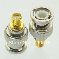 BNC male plug to SMA female jack RF adapter connector