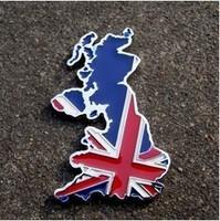 3D Metal UK Map Flag Emblem Car Truck Motor Sticker Auto Decal Free Shipping