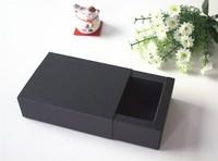8.6x5.9x3.2cm High quality black cardboard paper box Jewel gift box Essential oil lipstick packing box
