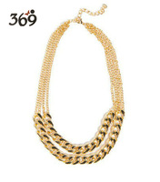 Wholesale 2013 the latest fashion PUNK gold chain choker necklace for women
