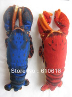 Free Shipping Wholesale 24Pcs/Lot 2 Colors Lobster Stuffed Plush Glass Sucker Toys Children Promotions Gifts Car Home Decor Toys