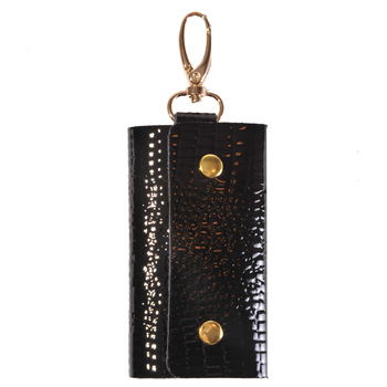 Women's key wallet fashion crocodile pattern multifunctional women's cowhide genuine leather key wallet