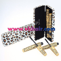 Free Shipping! New Waterproof Love Alpha Double Brand Mascara with Panther Leopard Pink Package Waterproof 1 Set=2Pcs
