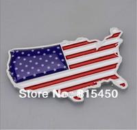 Freeshipping New American USA US National FLAG Car Decor 3D Decal Emblem 3M Metal Car Sticker