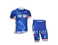 Free Shipping! New! 2013 FDJ team Cycling jersey Short Sleeve and shorts ciclismo wear bicycle  jersey
