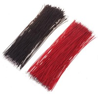 Free shipping (400 pcs/lot) Motherboard Jumper Cable Wires Tinned 10cm Black & Red