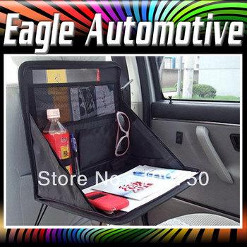 Foldable Car Back Seat Travel Meal Tray Laptop Desk Organizer Storage Bag Pocket Pouch 36cm*3.5cm*30.5cm Free Shipping#622941