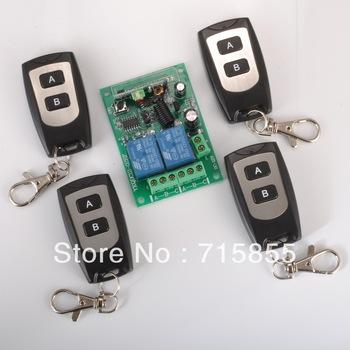 2CH Remote Control Switch System RF Wireless Garage Door Remote Control System