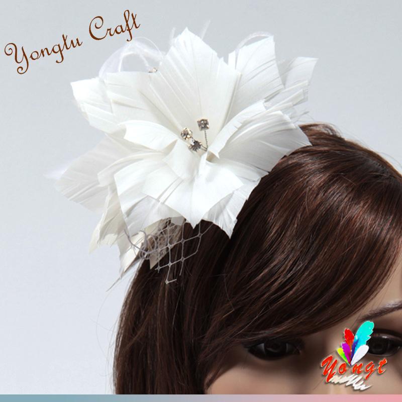 EMS free 2015 church sinamay flower fascinator hair accessory feather sinamay base fascinator bridal mini hat wedding party(China (Mainland))