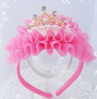 FREE SHIPPING/Hot Selling Fashion Kids Children Girl Lovely Candy Princess Crown Hair Bands Girls Hair Hoop /Hair Accessory