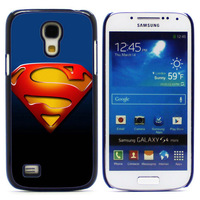 SUPERMAN Aluminum Metal&Hard Plastic Back Case Cover For Samsung I9190 Galaxy S4 mini,Free shipping