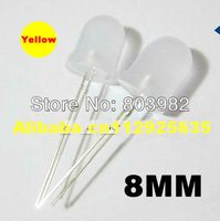 15-20mA 8MM led bulb Yellow diffused light emitting diode ROUND DIP LED 2.0-2.5V