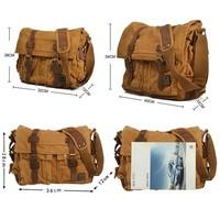 free shipping 2013 hot fashion Vintage canvas bag casual classic travel bag punk shoulder messenger bag