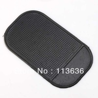 Free shipping,50 pcs /lot ,Black Silica Gel Sticky Car Dashboard Fit For Mobile Phone Holder anti-slip mat