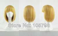 Attack on Titan Armin Arlert Golden 35cm short hair Anime Party cosplay wig+ Free Wig Cap
