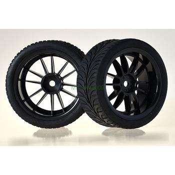 4PCS RC model car parts tires and rims. 1:10 Car On-road 3MM Offset Wheel Rim & Rubber Grip Tyre,Tires 6031-8007