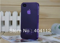 Free fedex shipping!!!0.5mm Ultra Thin case for iPhone4 4S, Slim Matte frosting Transparent Cover Case For iPhone 4G