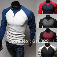 Raglan sleeve design fashion long-sleeved t-shirt metrosexual man necessary self-cultivation