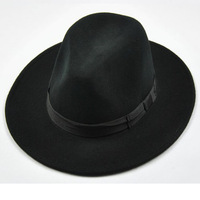 Quinquagenarian quality wool hat big jazz hat fashion woolen fedoras men's sombrely
