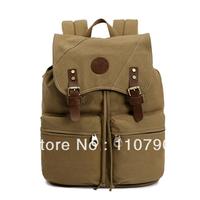 High-grade canvas bag fashion bag shoulder bag personality Backpack Hiking bag High capacity travel bag