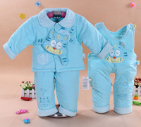 Autumn and winter autumn and winter children's clothing wadded jacket baby cotton-padded jacket baby cotton-padded jacket three