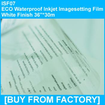 "Waterproof ECO Inkjet Imageseetting Film White Finish 36""*30M"